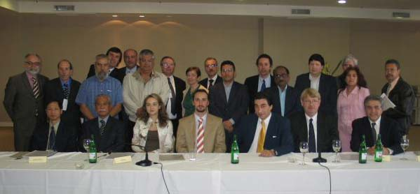 Group photo with presidents of neighboring Latin American federations